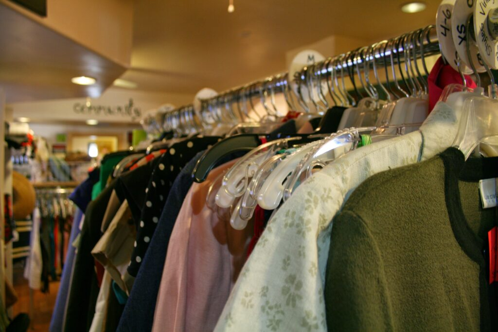 Image of clothes hanging on a rack