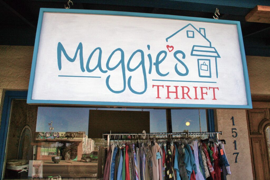 Image of Maggie's Thrift sign