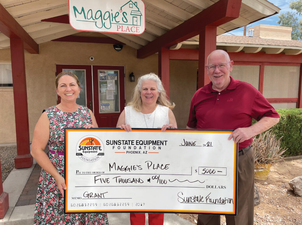 Image of Sunshine Equipment Foundation giving check to CEO